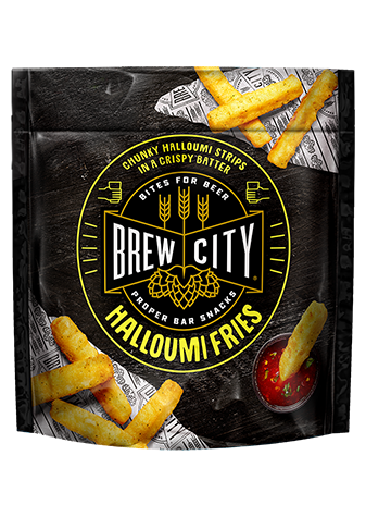Brew city halloumi fries packaging