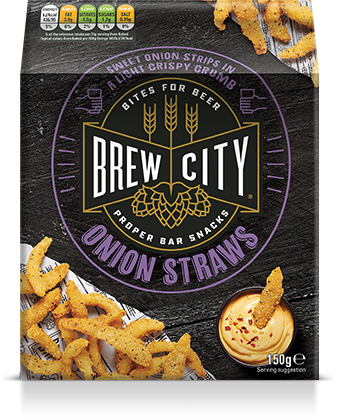 Brew city onion straws packaging
