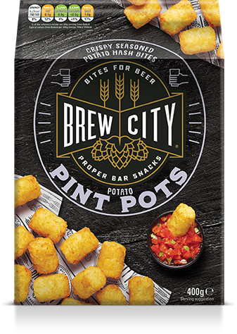 Brew city potato pint pots packaging